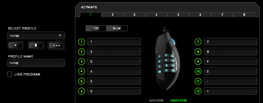 Razer gaming mouse programmable buttons