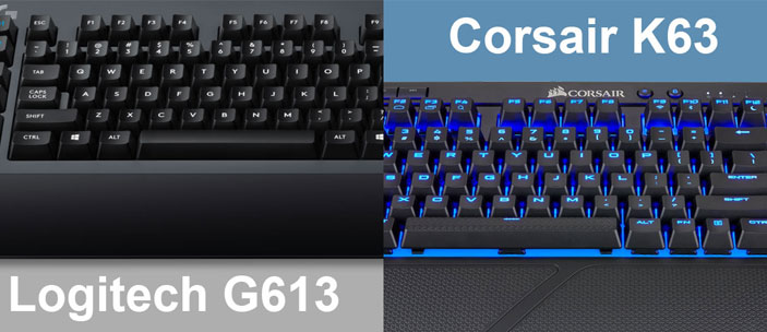 logitech g613 vs corsair k63