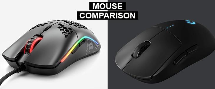 glorious model o vs logitech g pro wireless