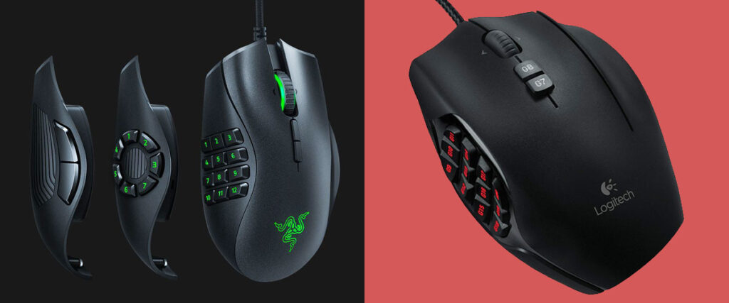 Razer Naga Trinity vs Logitech G600 | Mouse Comparison