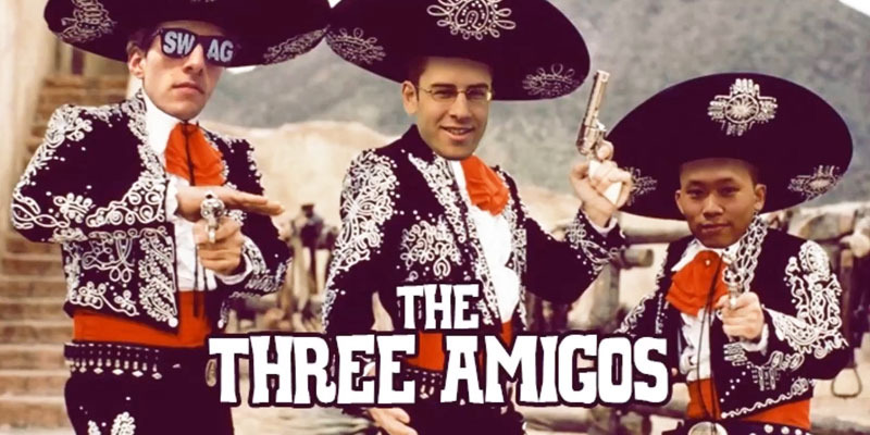 3 amigos Cdew Snutz and Venruki