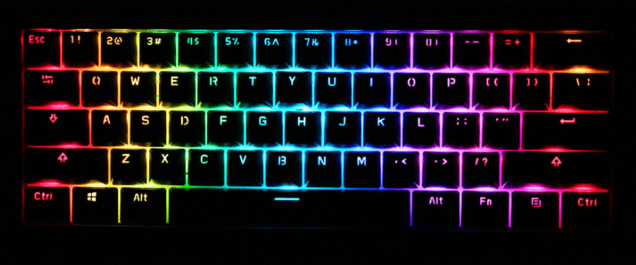 Anne Pro 2 RGB Lighting effect