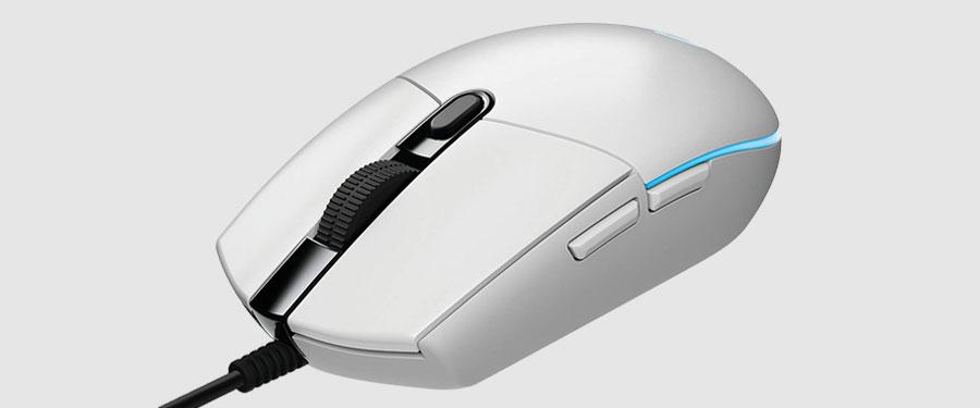 Logitech G203 - cheap white gaming mouse