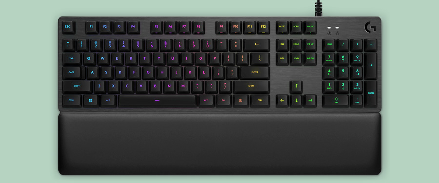 Logitech G513 - mechanical gaming keyboard with a wrist rest